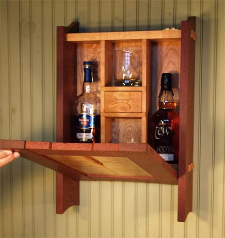 Small Mini Bar Fine Wood Furniture By Wayne Ignatuk Swallowtail Studio Jay Ny
